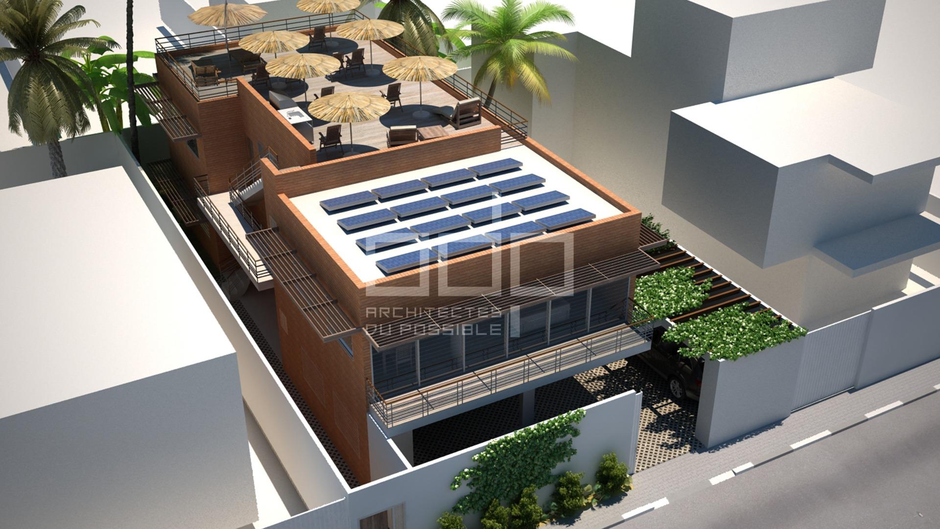 Projet d'appartements en briques de terre à Fidjrossè, Cotonou